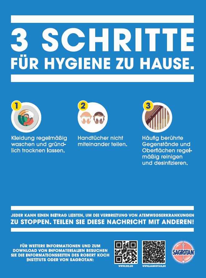 3 Schritte für Hygiene zu Hause